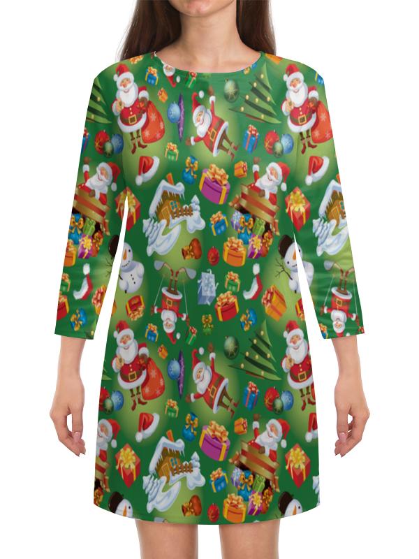 Платье с рукавами Printio Подарки подарки