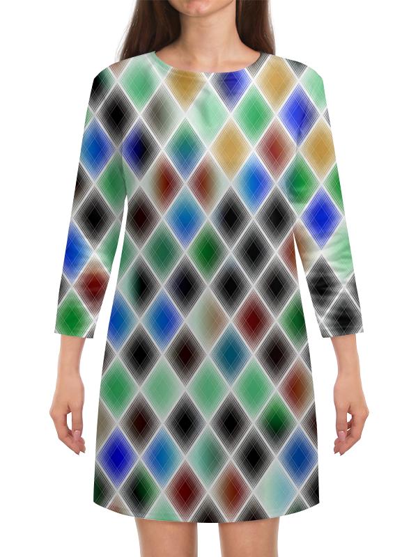 Платье с рукавами Printio Квадрат культ платья bracegirdle платье квадрат