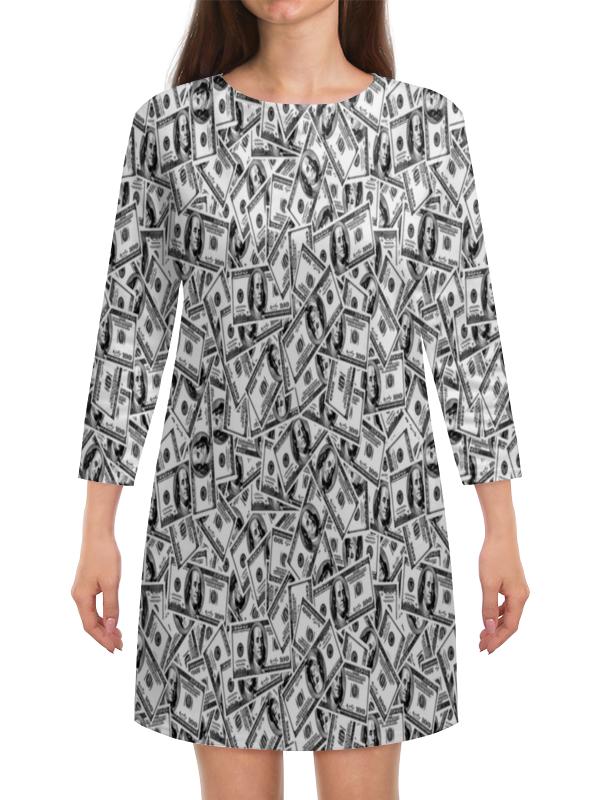 Платье с рукавами Printio Доллар