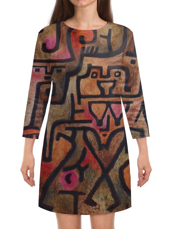 Платье с рукавами Printio Лесные ведьмы (пауль клее) чехол для samsung galaxy s5 printio лесные ведьмы пауль клее