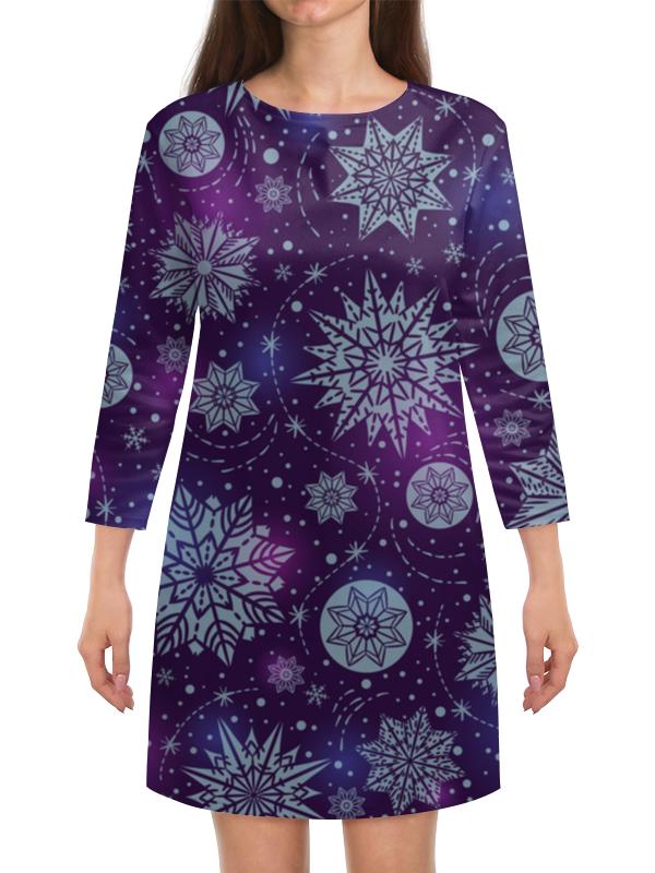 Платье с рукавами Printio Новогоднее