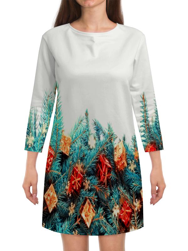 Платье с рукавами Printio Подарки на елке сумка printio подарки