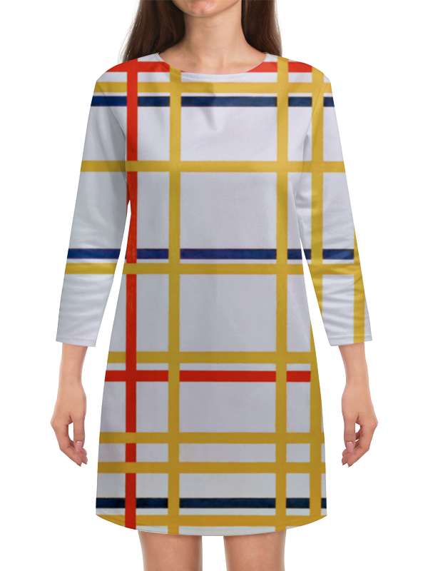 Платье с рукавами Printio Нью-йорк 1 (питер мондриан)