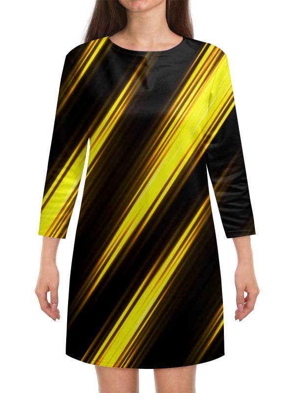 Платье с рукавами Printio Желтые полосы