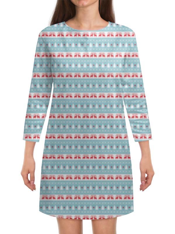 Платье с рукавами Printio Новый год