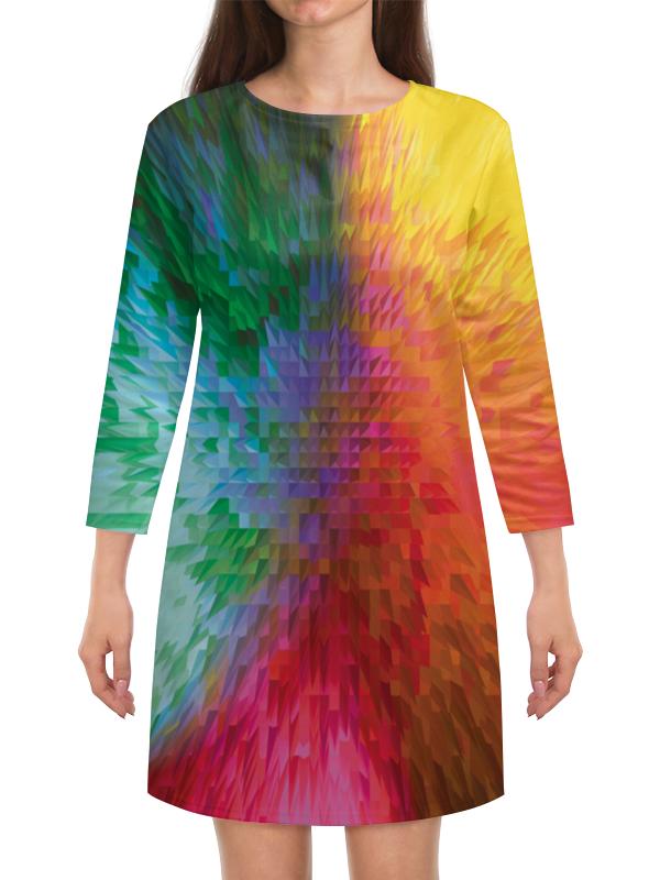 Платье с рукавами Printio Радужная абстракция платье с рукавами printio абстракция треугольники