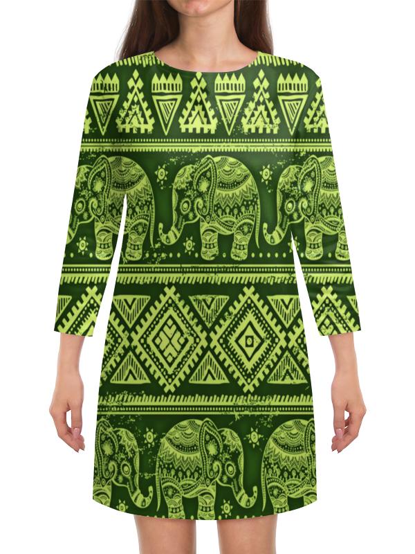 Платье с рукавами Printio Слоны