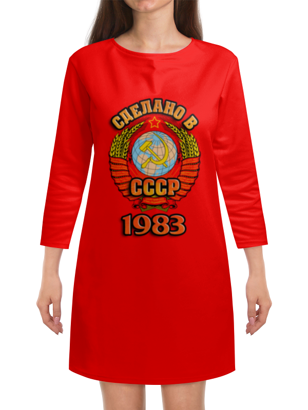 Платье с рукавами Printio Сделано в 1983 платье с рукавами printio новый год