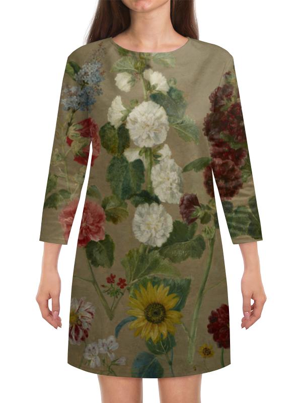 Платье с рукавами Printio Цветы (эжен делакруа)