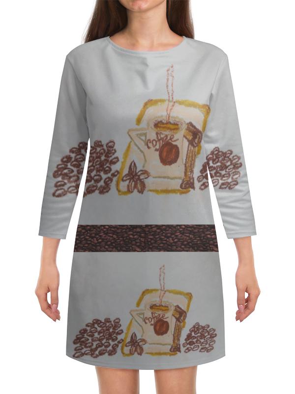 Платье с рукавами Printio Утренний кофе uno гель лак 239 утренний кофе morning coffee