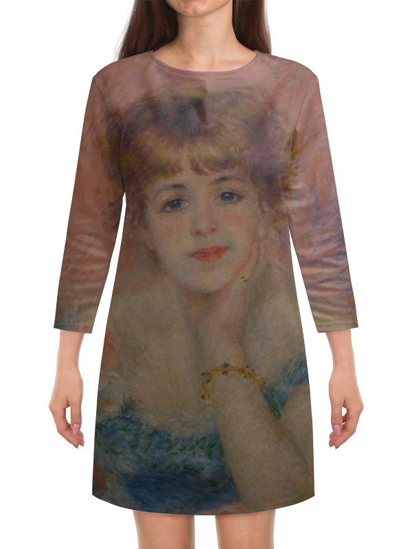 Платье с рукавами Printio Портрет актрисы жанны самари (ренуар) чехол для iphone 6 глянцевый printio портрет актрисы жанны самари ренуар