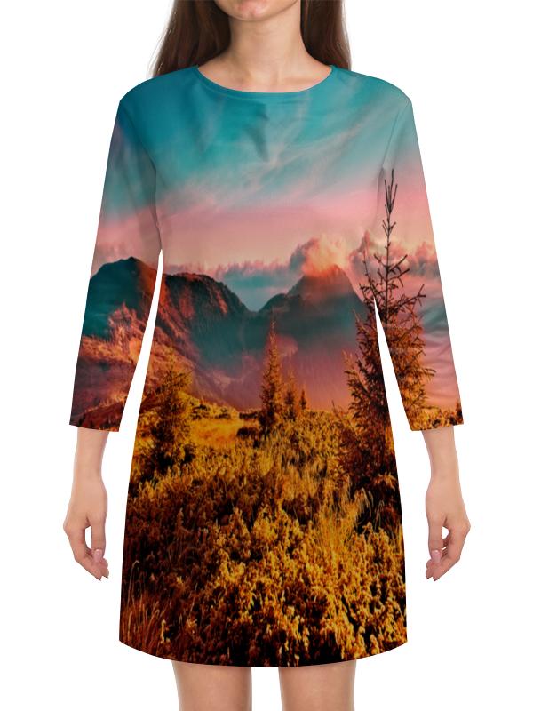 Платье с рукавами Printio Природа николай делоне квантовая природа вещества