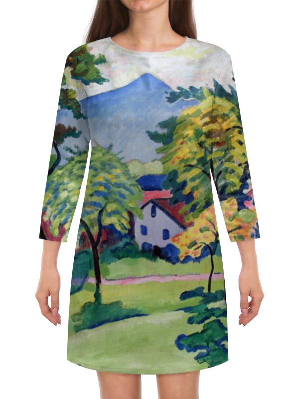 Платье с рукавами Printio Пейзаж в тегернзее (август маке)