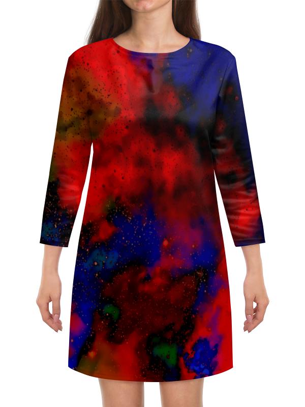 Платье с рукавами Printio Красно-синий узор