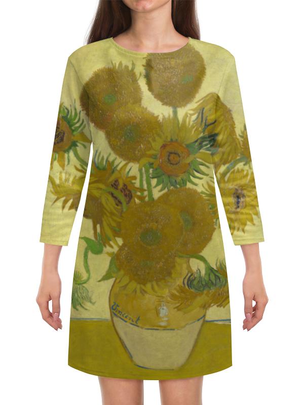 Платье с рукавами Printio Подсолнухи (винсент ван гог)