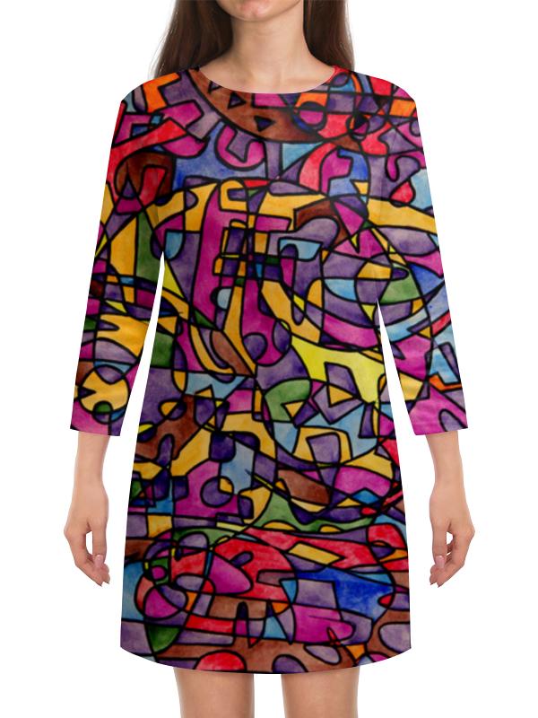 Платье с рукавами Printio Rrg`90`90=-= ev1234m 2di50b 90