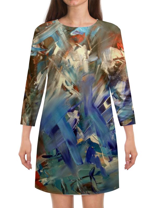 Платье с рукавами Printio Абстракция платье с рукавами printio абстракция треугольники