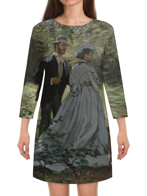 Платье с рукавами Printio Базиль и камилла (клод моне)