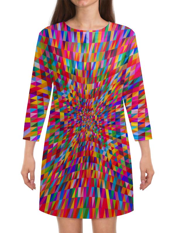 Платье с рукавами Printio Абстракция треугольники платье с рукавами printio абстракция треугольники