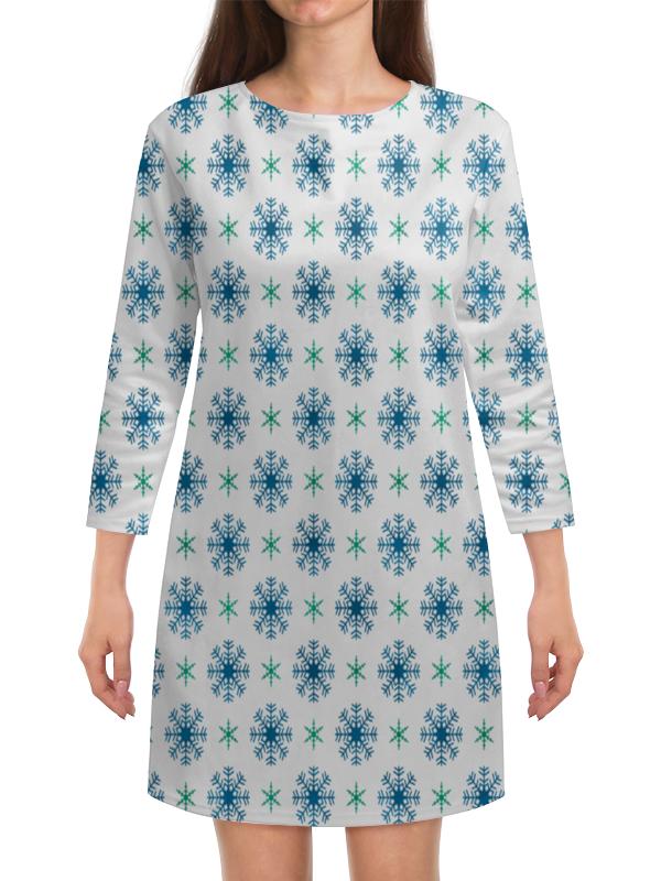 Платье с рукавами Printio Падающие снежинки людмила михайлова падающие облака