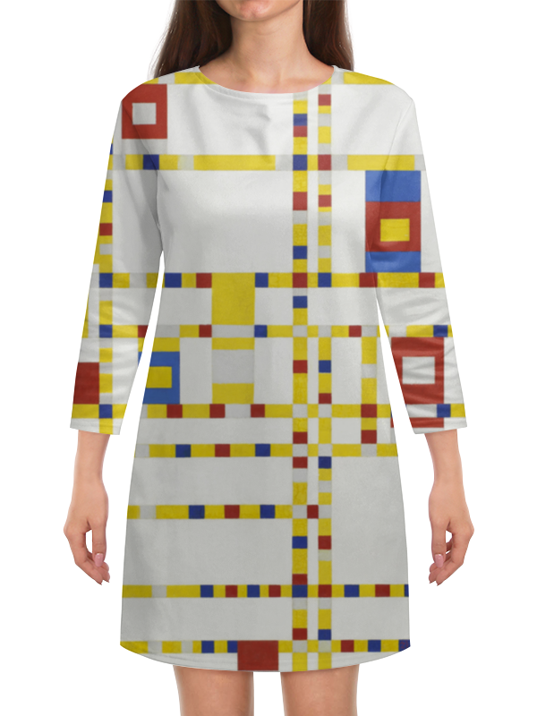 Платье с рукавами Printio Бродвей буги-вуги (питер мондриан) чехол для samsung galaxy s5 printio бродвей буги вуги питер мондриан