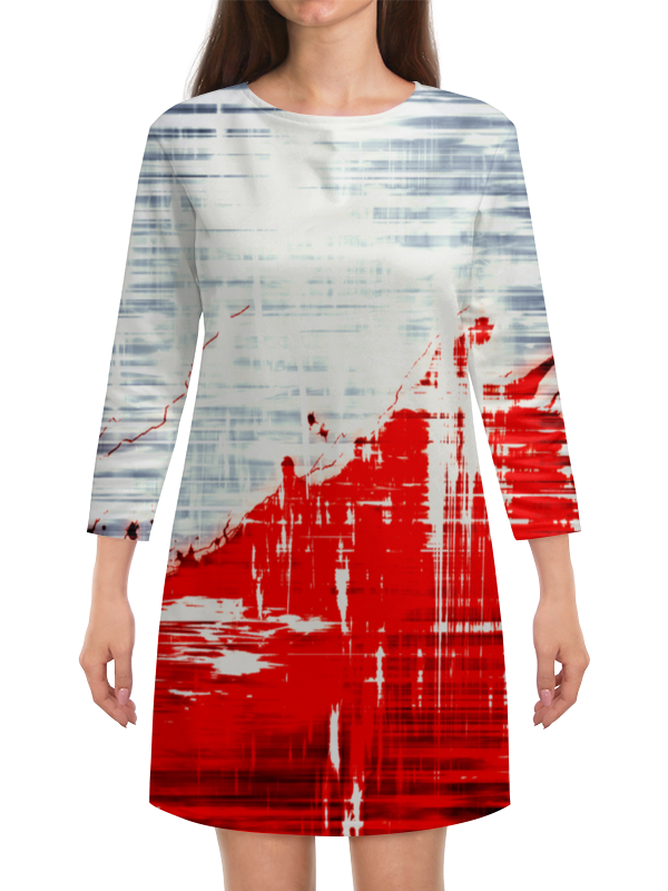 Платье с рукавами Printio Пятна краски платье с рукавами printio краски на воде