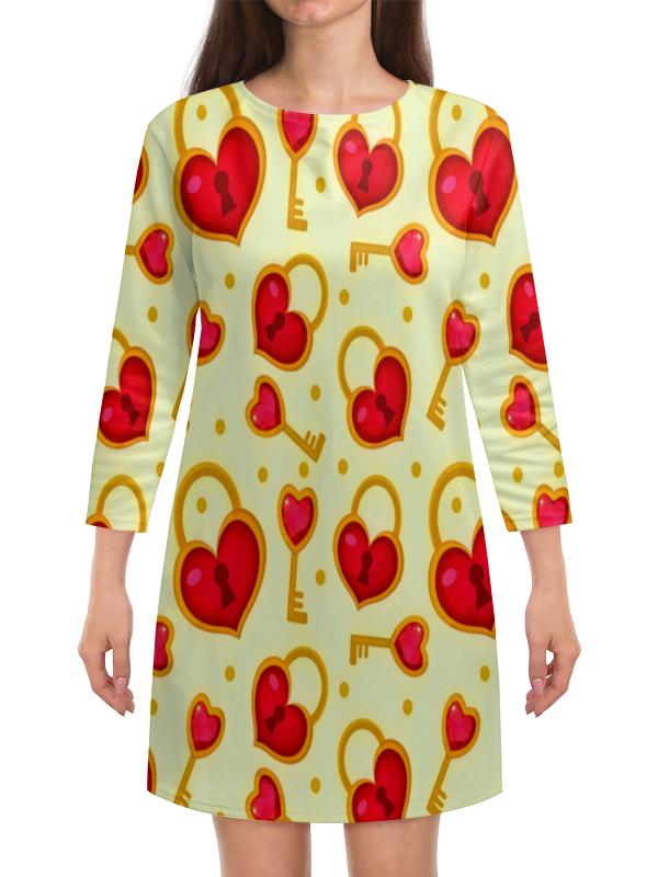 Платье с рукавами Printio Ключ от сердца беда от нежного сердца