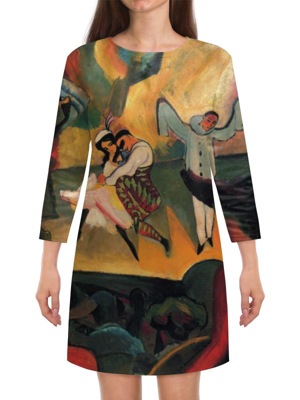 Платье с рукавами Printio Русский балет (август маке) август мягкая мозаика дерево цвет основы синий