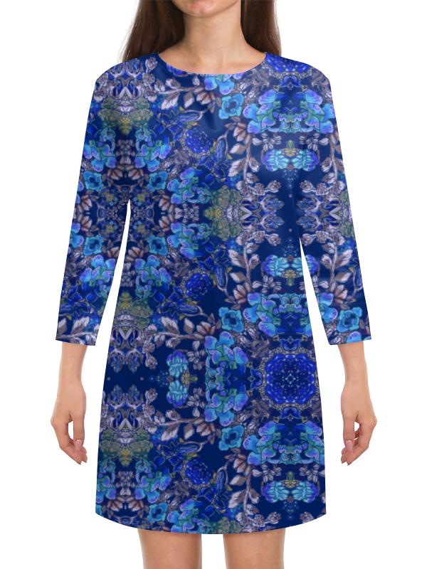 Платье с рукавами Printio Красивый растительный цветочный орнамент, паттерн плакат a3 29 7x42 printio яркий красивый модный гелакси дизайн паттерн