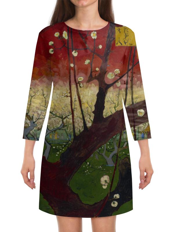 Платье с рукавами Printio Цветение слив (ван гог) пазл 73 5 x 48 8 1000 элементов printio цветение слив ван гог