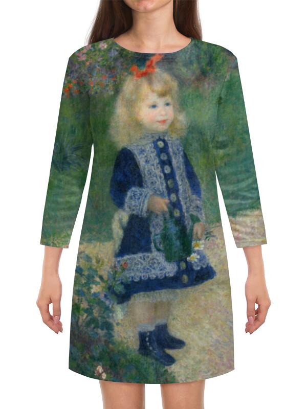 Платье с рукавами Printio Девочка с лейкой (пьер огюст ренуар) чехол для iphone 6 глянцевый printio влюбленные пьер огюст ренуар