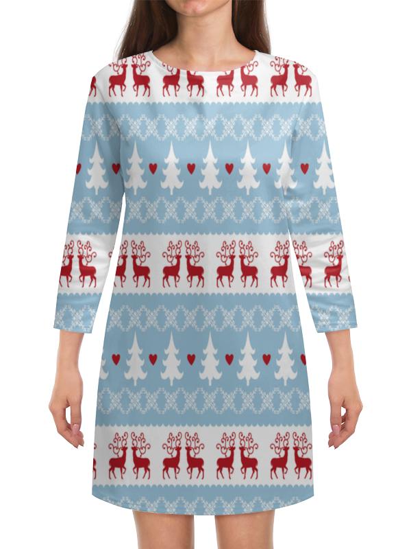 Платье с рукавами Printio Елочка