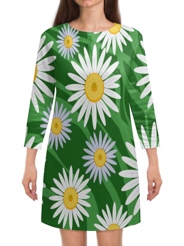 Платье с рукавами Printio Ромашки платье трикотажное матти ромашки