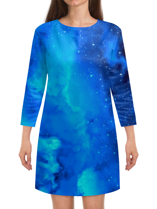 Платье с рукавами Printio Звездное небо картленд барбара звездное небо гонконга