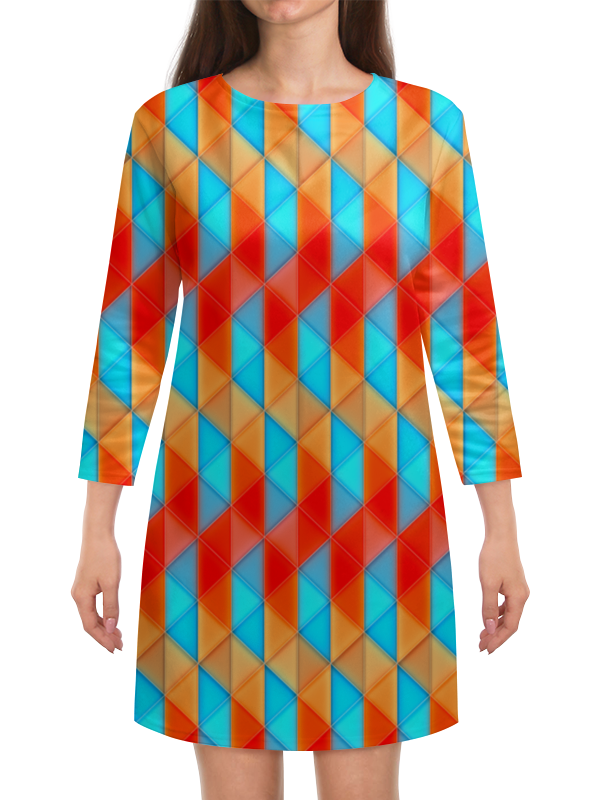 Платье с рукавами Printio Треугольники платье с рукавами printio абстракция треугольники