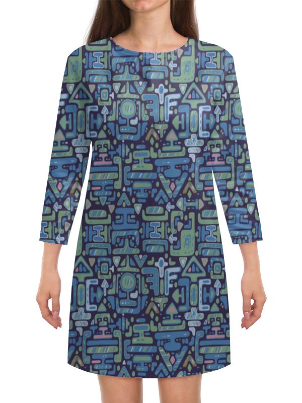 Платье с рукавами Printio Символы матин и янтры защитные символы востока