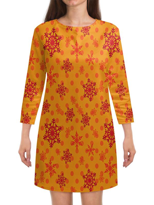 Платье с рукавами Printio Падающие снежинки костюм маленькой снежинки 32