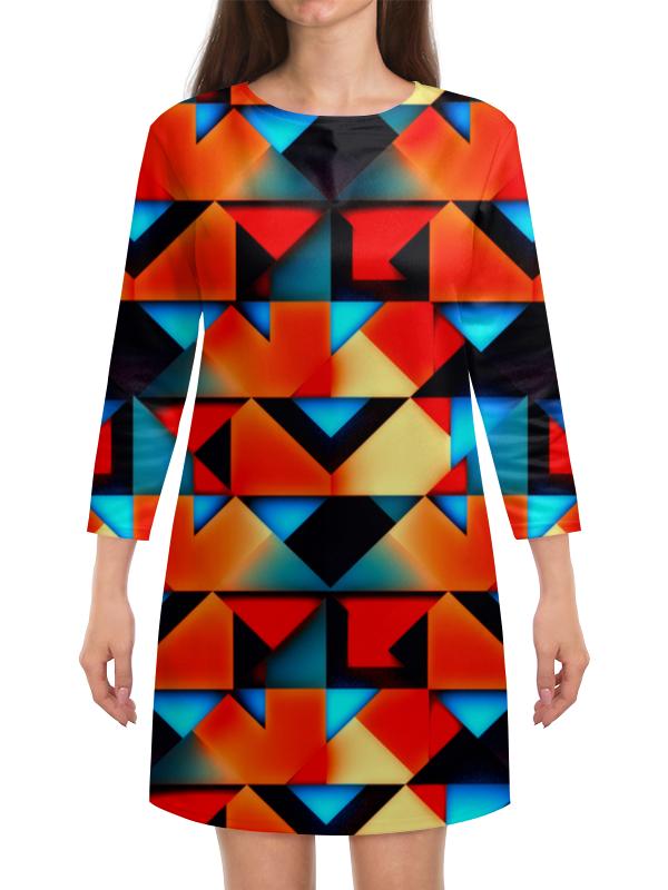 Платье с рукавами Printio Геометрические фигуры геометрические фигуры из гипса в донецке