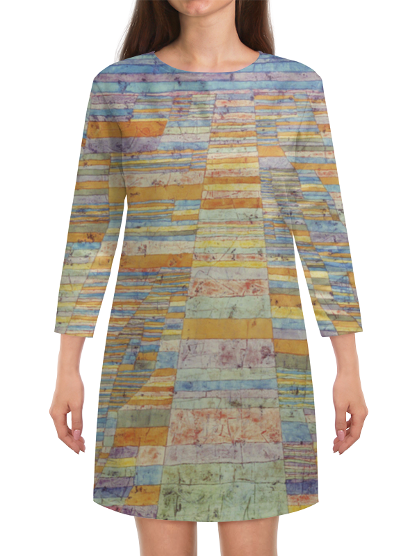 Платье с рукавами Printio Шоссе и переулки (пауль клее) куплю частный дом егорьевское шоссе