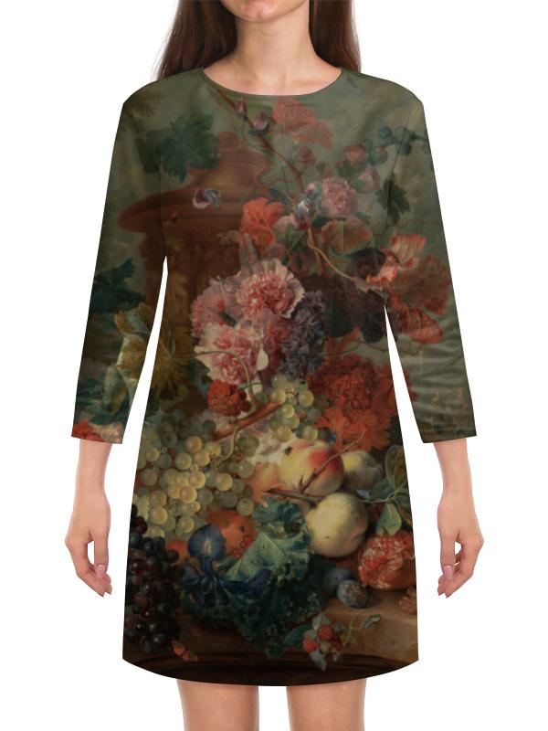 Платье с рукавами Printio Цветы (ян ван хёйсум) ян ван гойен альбом isbn 9785779344791