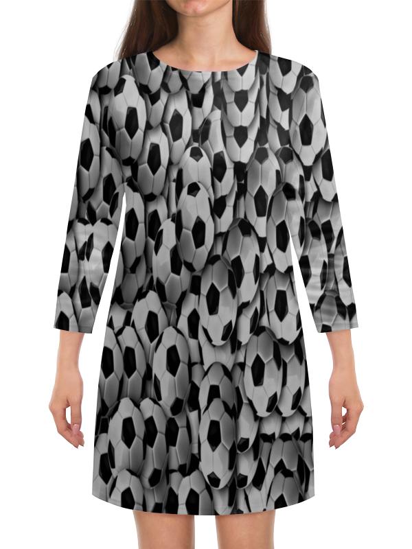 Платье с рукавами Printio Футбол