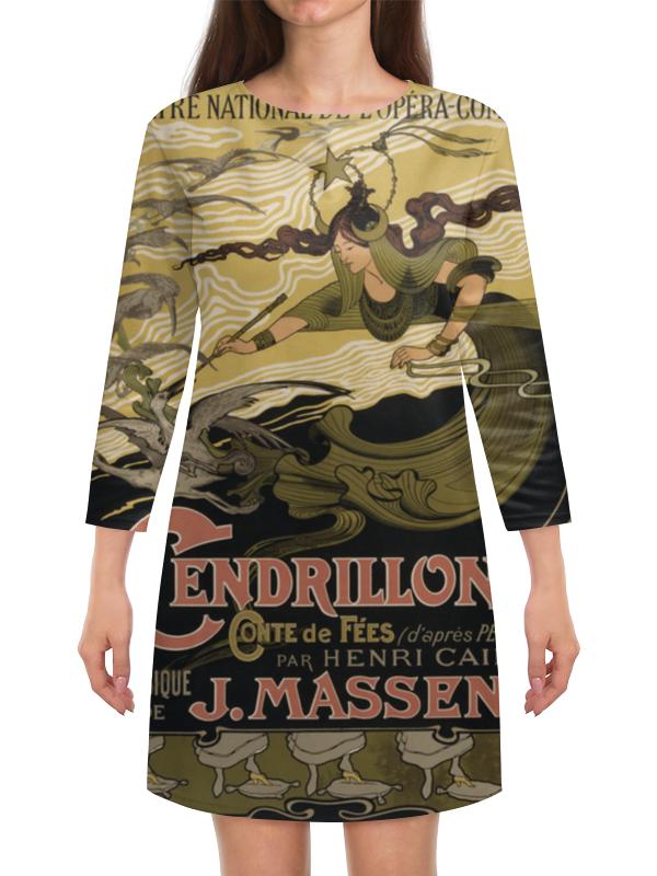 Платье с рукавами Printio Афиша оперы золушка 1899 г. афиша знаки l 89