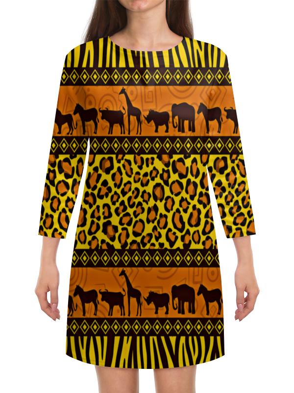 Платье с рукавами Printio Африка