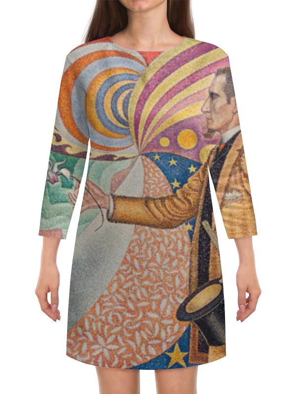 Платье с рукавами Printio Портрет феликса фенеона (поль синьяк)