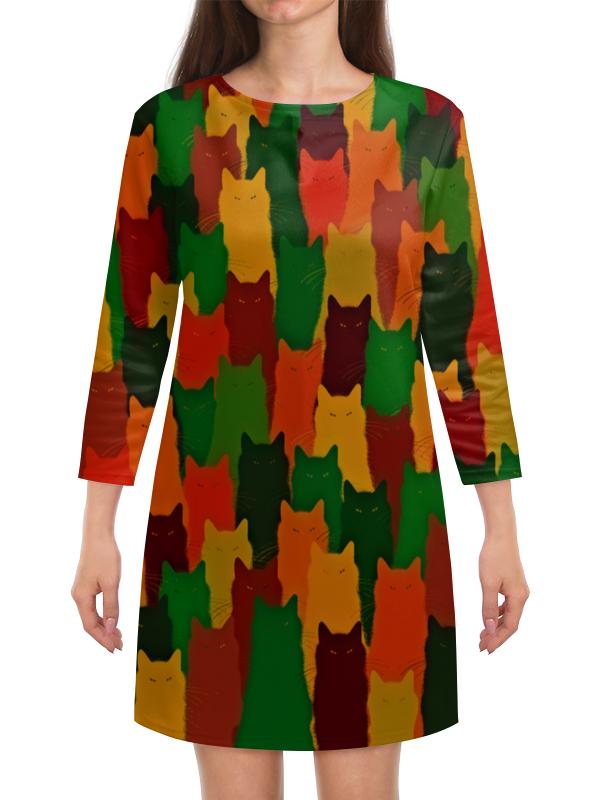 Платье с рукавами Printio Домашние питомцы бомбер printio домашние питомцы