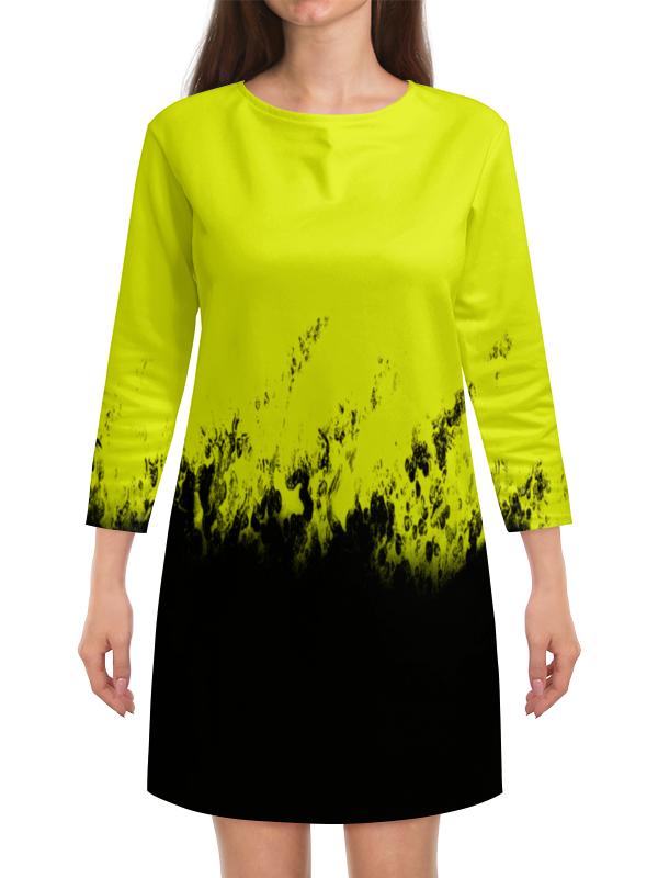 Платье с рукавами Printio Желто-черные краски платье с рукавами printio краски на воде