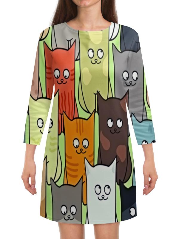 Платье с рукавами Printio Котята полуперсидские котята в москве