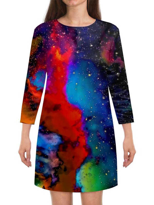 Платье с рукавами Printio Краски космоса платье с рукавами printio краски на воде
