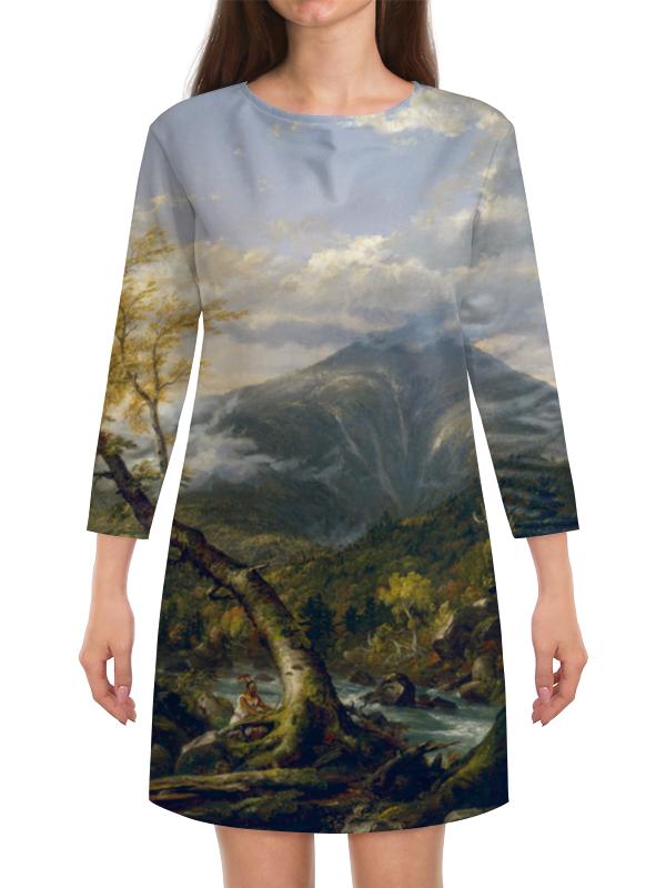 Платье с рукавами Printio Индейская тропа тахавус (томас коул)