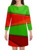 """Платье с рукавами """"Цветные полосы"""" - узор, полосы, краски, текстура, линии"""
